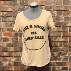 Project Social T muted yellow t-shirt, small